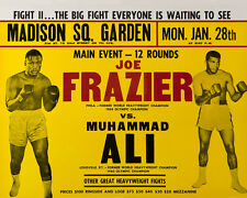 1974 Boxing MUHAMMAD ALI vs JOE FRAZIER Glossy 8x10 Photo Title Fight II Poster