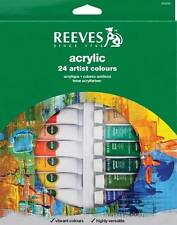 Reeves Acrylic Artist Colours Paint 24 x 10ml Tube Set - Gift / Starter Box