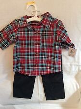 Carter's Just For You 2-Piece Shirt & Pants Outfit Set Baby Boys 12 month NWT