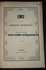 Ems Ses Sources Minerales et Environs um 1853 Mineralwasser Kraenchen Kessel Bad