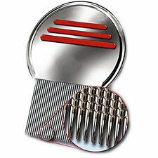 Remove Head Lice With Our New Metal Stainless Steel Nit Comb Louse Free S&H R