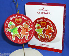 Hallmark Ornament Sweet on You 2014 Gingerbread Cookies on Plate Love Friendship