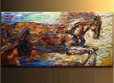 "100% hand-painted horse modern knife oil paintings on canvas 24X48""(no framed)"