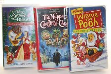 Lot of 3 Disney Christmas Movies and The Muppets Winnie the Pooh Beauty and the