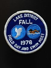 Lake District Fall Field Day and Swim Meet 1978 Boy Scout Patch