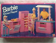 Vintage Barbie Kitchen Playset Refrigerator Dishwasher Oven 1993 Still Sealed