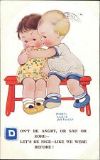 Mebel Lucie ATTWELL Postcards Puppy Girl Crying JE.657