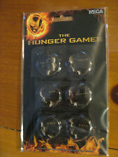 Hunger Games Set of 6 Buttons w/ Katniss, Peeta, Rue, Haymitch, Gale and Cato