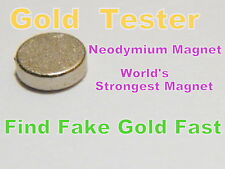 Rare Earth Magnete al Neodimio 10mm X 2mm-test di scarti in oro & silver-large monete