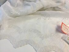 NEW Designer White Chiffon Chiffon Original Swiss Embroidery Fabric Switzerland