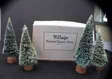 "New Box DEPT 56 Heritage FROSTED TOPIARY TREES Set of 4 7""h Accessories #52019"
