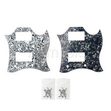 2pcs Full Face Guitar Pickguard Scratch Plate for SG Standard 3 Ply with Screws