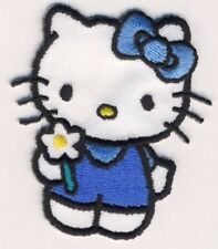HELLO KITTY - blau - Aufnäher Aufbügler Applikation Patch Badge - OVP #9155