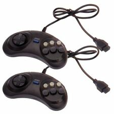 2 x Sega Mega Drive/Genesis/Master System Controller 6 Button Fighting Game Pad