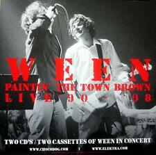 WEEN BRILLIANTLY RARE ORIGINAL PAINTIN' THE TOWN BROWN CD / LP COVER ART POSTER