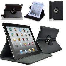 New Black iPad 2 360 Degree Rotational Case Stand Cover Protect From Shock Dust