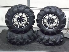 "27"" ITP MEGA MAYHEM DEEP 1.5"" LUG ATV TIRE & 14"" HD6 ATV WHEEL COMPLETE KIT L8"