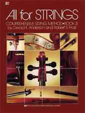 """""""ALL FOR STRINGS"""" BOOK 3 CELLO BRAND NEW MUSIC BOOK INTERMEDIATE METHOD ON SALE!"""