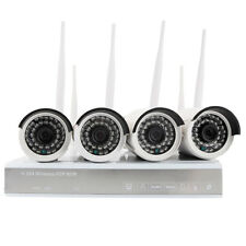 4PCS 960P 1.3MP Wireless IP P2P Camera 4CH Home Digital CCTV Security System US