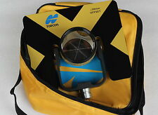 New Yellow Topcon Metal single Prism set w/ soft bag for Topcon total stations