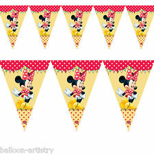 2.3m Disney Minnie Mouse Cafe Flag Pennant Banner Decoration