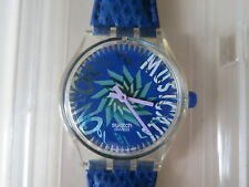 Swiss 1992 Swatch Tone In Blue Musical  SLK100 Fall Winter Collection Watch