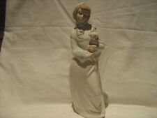 Lladro style Diana Spain large hand made porcelain figure girl holding lamb