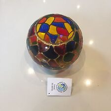 Lovely Indian Colourful Glass Candle / Tea Light Holder - Artisan / Fairly Made