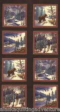 "MODA Quilt Panel ~ WINTER FOREST  FLANNELS ~ Holly Taylor  (6600 19F) 24"" X 45"""