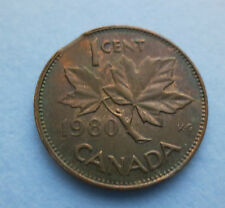 1980 CANADIAN PENNY W/CLIP ERROR- RARE CANADIAN COLLECTIBLE