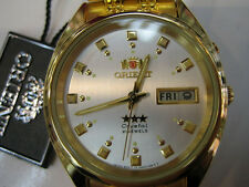 ORIENT MEN'S WATCH AUTOMATIC ALL S/S GOLD ORIGINAL JAPAN FEM0401DC9 NEW