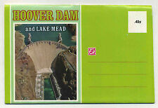 Vintage Fold-Out Postcard View Book HOOVER DAM & LAKE MEAD, NEVADA 1950's