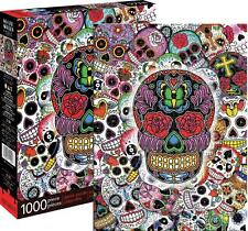 AQUARIUS JIGSAW PUZZLE SUGAR SKULLS 1000 PCS #65285
