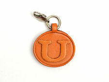 Alphabet/Initial U Handmade Leather Keychain/Charm *VANCA* Made in Japan #26392