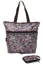 Very Lovely Bag Co Spring Design Lightweight Foldable Zip It Shopper Tote Bag