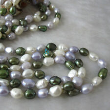 """55"""" 6-8mm Multi Color Freshwater Pearl Necklace Z Pearl Strand Jewelry HD"""