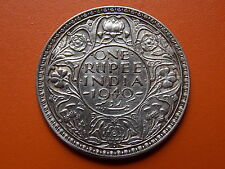 "George VI King Emperor One Rupee ""1940"" Bombay Mint Original Silver Coin"