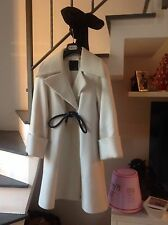 cappotto bianco White coat manteau mantel no pelliccia pelz nerz fur mink fox
