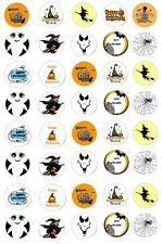40 Halloween, Scary Ghost, Witch Spider Web Edible Cupcake Wafer Paper Toppers