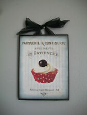 Red Poka Dot Cupcake Kitchen- French Shabby Country Chic - Wall Decor Sign
