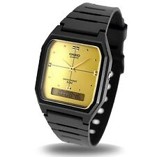 Casio AW48HE-9AV, Classic Watch, Analog/Digital Combo, Black Resin Band, Alarm