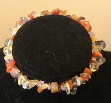 Carnelian & Fluorite chip perles bracelet cristal de guérison
