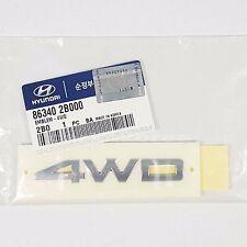 Genuine 863402B000 Rear Trunk 4WD Emblem Badge HYUNDAI SANTA FE CM 2007-2010