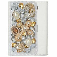 Magnetic Glitter Bling Gems PU leather flip slots wallet stand case cover skin C