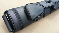 New Pro Series 3x5 Pool cue Case Hard Tube Case, Black, FREE Predator Chalk!!