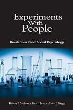 Experiments With People: Revelations From Social Psychology, Gregg, Aiden P., Fr