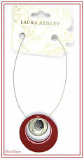 BEAUTIFUL MAROON & SILVER PENDANT NECKLACE BY LAURA ASHLEY. TICKET PRICE £16!!