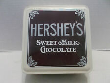 Hershey's Sweet Milk Chocolate Square Tin Box With Empty Wrappers 1990!
