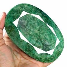 2410 Cts Natural Brazilian Green Emerald Oval Faceted Cut Huge Museum Gemstone