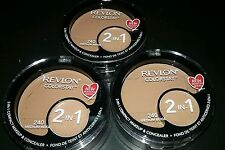 3 Revlon Colorstay 2-in-1 COMPACT MAKEUP & CONCEALER, MEDIUM BEIGE 240